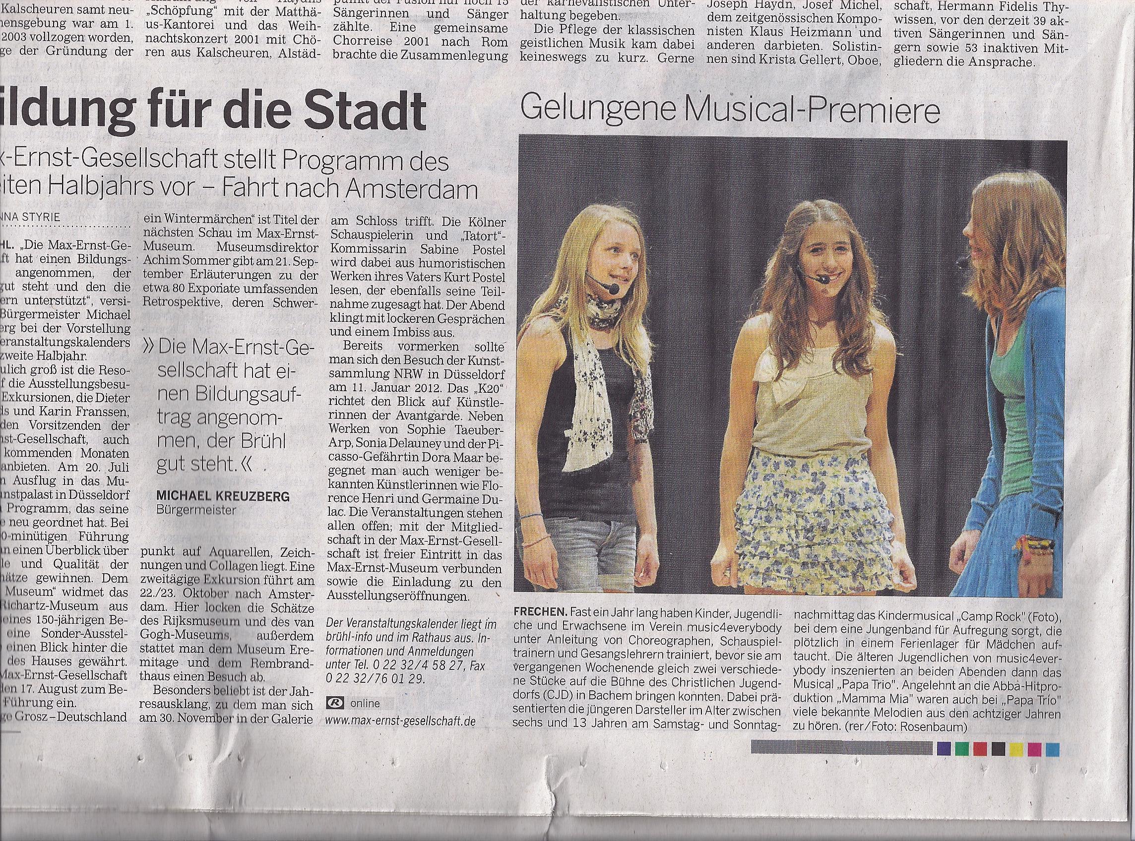 Kölner StadtAnzeiger 18.07.2011